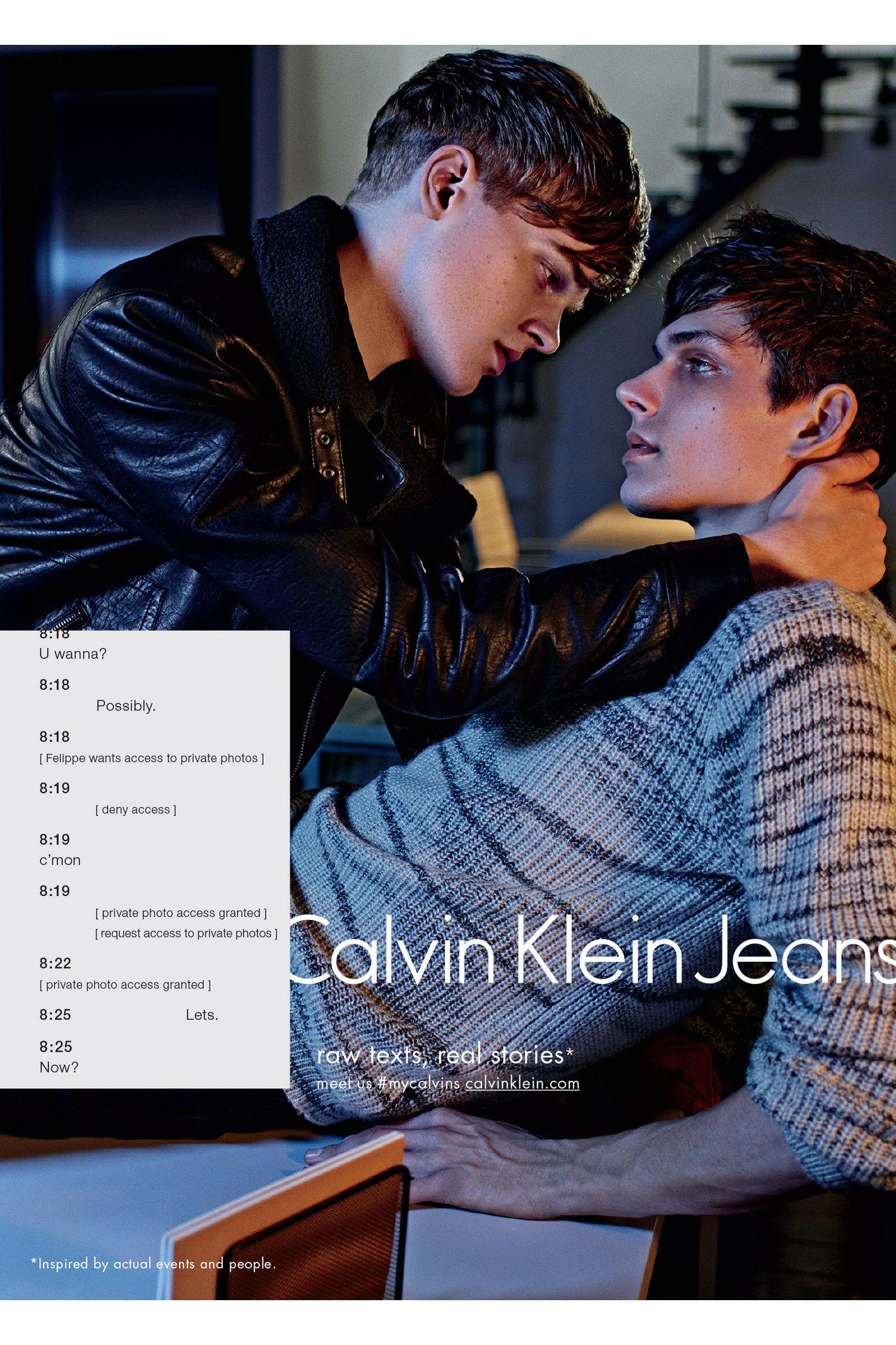 Meaning Ads Sells' Fall Calvin Of Klein's The 'sex Redefine Denim F1YF4PwqB
