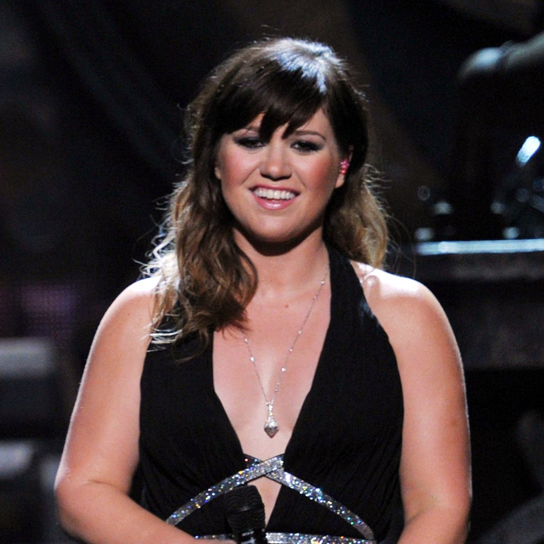 Singer Kelly Clarkson performs onstage at the 54th Annual GRAMMY Awards