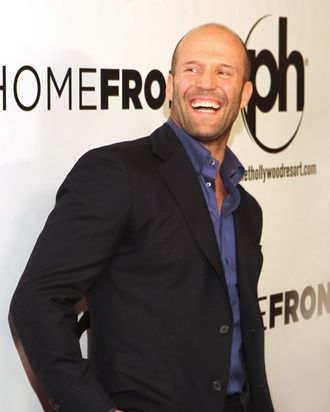 LAS VEGAS, NV - NOVEMBER 20: Actor Jason Statham arrives at the Las Vegas premiere of Open Road Films'