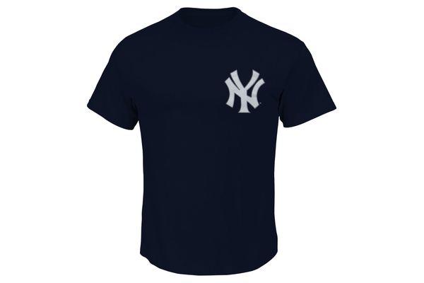 New York Yankees Majestic New Wordmark T-shirt Navy