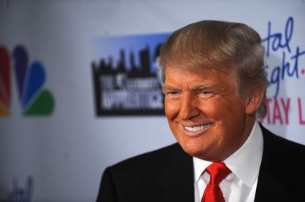 """Donald Trump attends the """"Celebrity Apprentice"""" Live Finale at American Museum of Natural History on May 20, 2012 in New York City."""