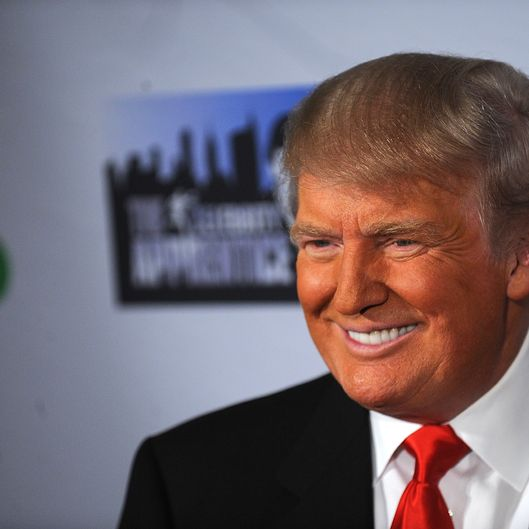 "Donald Trump attends the ""Celebrity Apprentice"" Live Finale at American Museum of Natural History on May 20, 2012 in New York City."