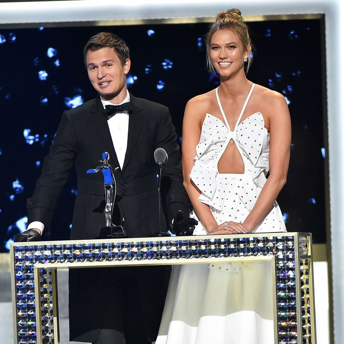 Ansel Elgort and Karlie Kloss.