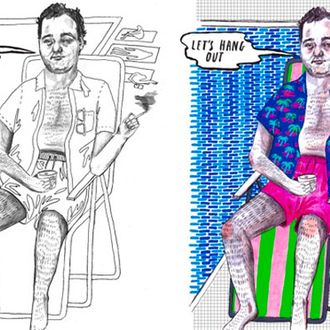 See What a Bill Murray Coloring Book Looks Like