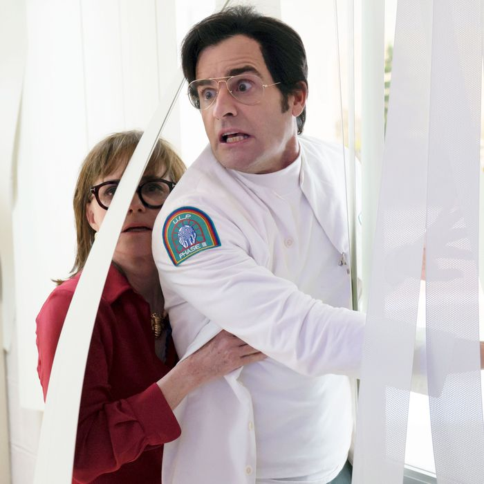 Sally Field and Justin Theroux in Maniac. Not pictured: The Sucktube.