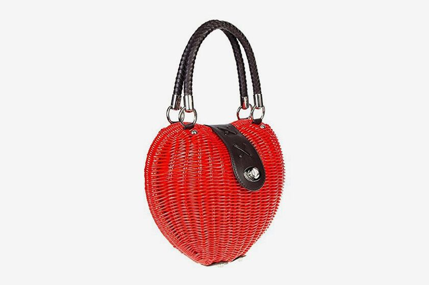 Women's Voodoo Vixen Heart Wicker Handbag