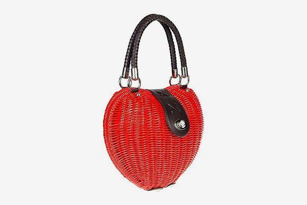 Women's Voodoo Vixen Heart Wicker Handbag