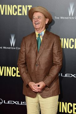 "NEW YORK, NY - OCTOBER 06:  Actor Bill Murray attends the ""St. Vincent"" New York Premiere at Ziegfeld Theater on October 6, 2014 in New York City.  (Photo by Jamie McCarthy/Getty Images)"