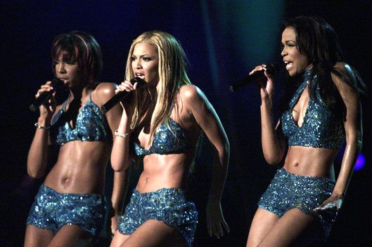 """Destiny's Child"" perform their song ""Say My Name"" at the 43rd annual Grammy Awards in Los Angeles February 21, 2001. ""Destiny's Child"" won the Grammy Award for Best R&B Performance by a Duo or Group for the song."