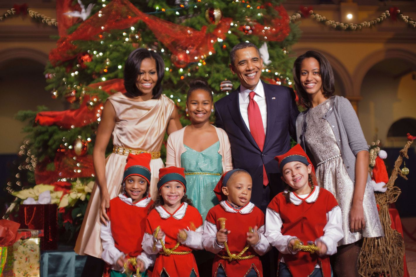 The Obamas Get Gussied Up for Elves, Diana Ross