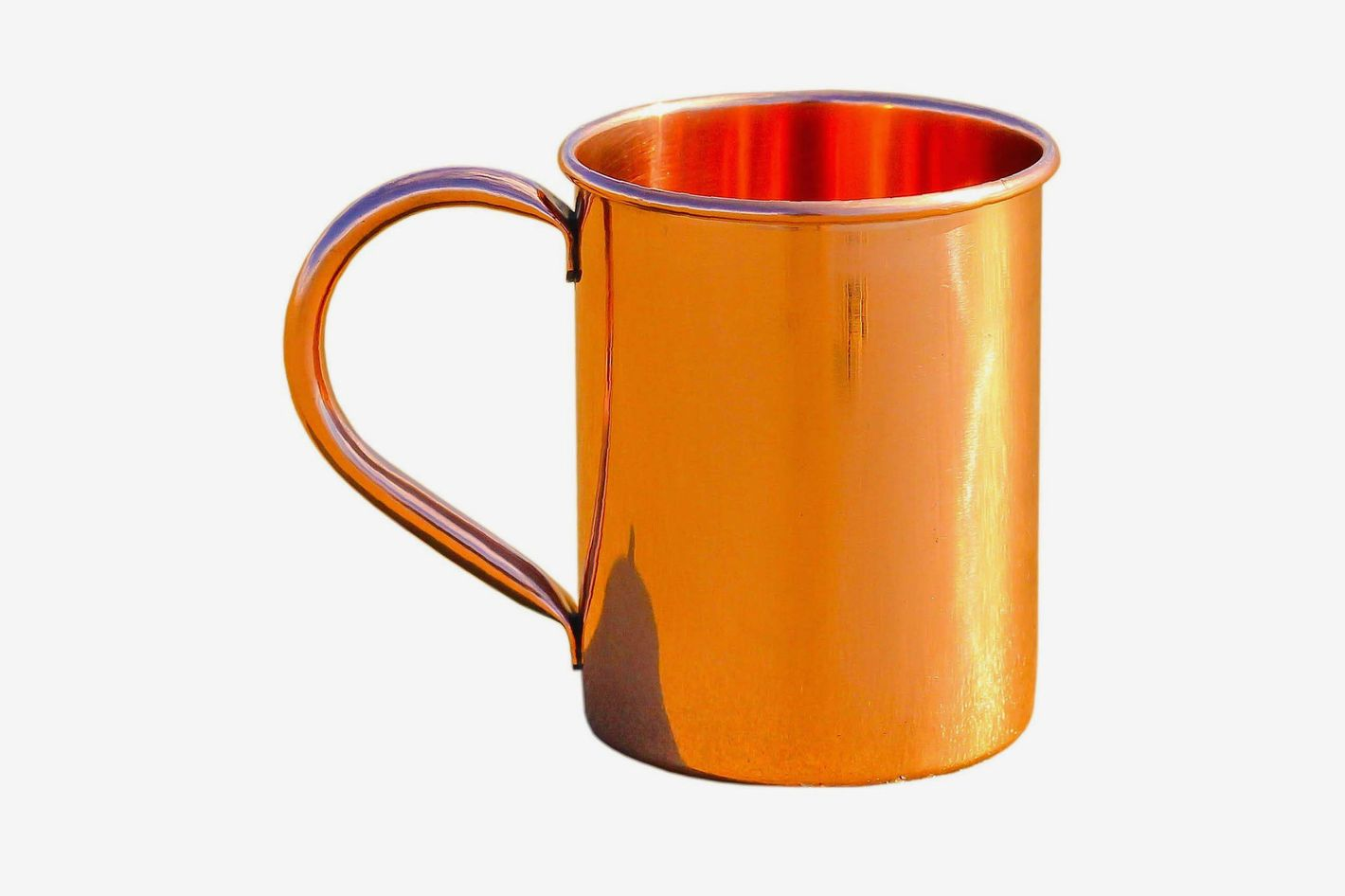 Copper Mug for Moscow Mule — Solid Smooth Pure Copper