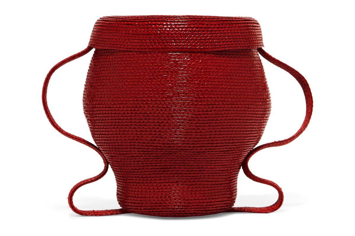 Rosie Assoulin Jug mini woven clutch