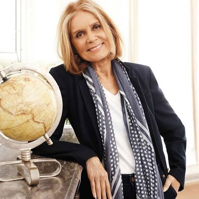 A yet-to-be-realized Lands' End tote; Gloria Steinem.