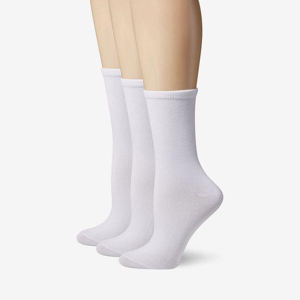 Hanes Women's ComfortSoft Crew Socks, 3-Pack