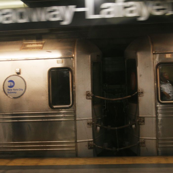 The MTA announced today March 25,2009 that fares on New York City buses and trains will be raised to $2.50 as well as cut services throughout the system.New York City Subway is a rapid transit system owned by the City of New York and leased to the New York Transit Authority.It is one of the most extensive public transportation systems in the world.A typical ride on the subway turns out to be an adventure for most riders with extremely high noise levels,unusual smells,reflective surfaces with unattractive lighting and large crowds of New Yorkers.Photo Dated 09/2006