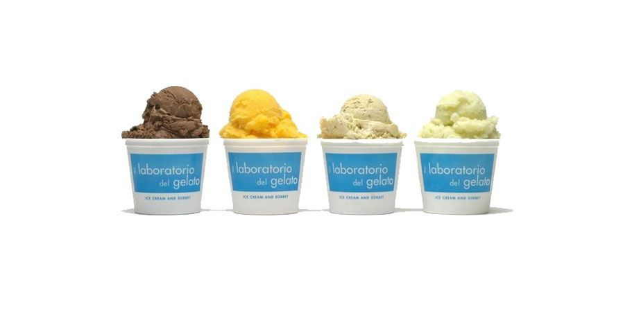 Four 20-oz ice cream flavors