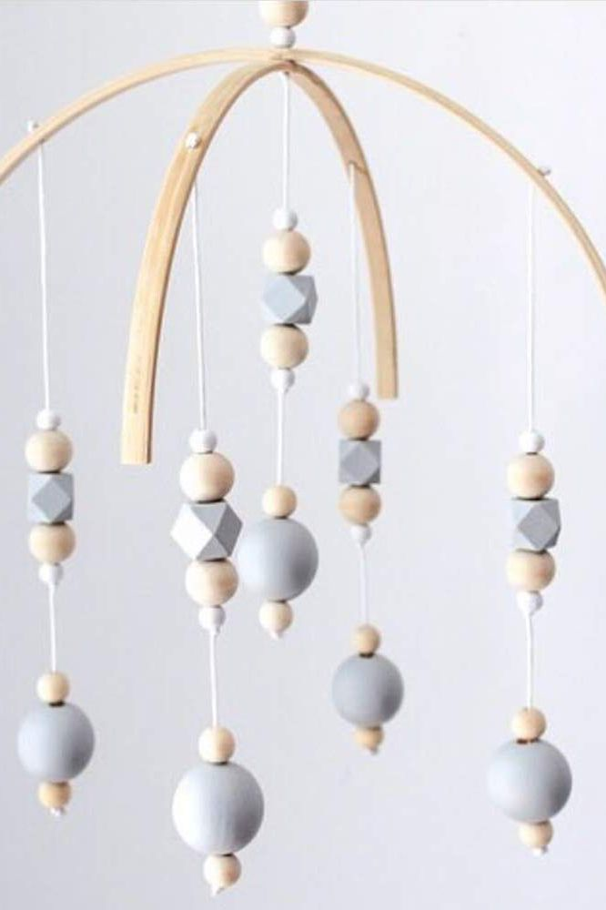 ISHOWDEAL Nordic Style Wooden Wind Chime