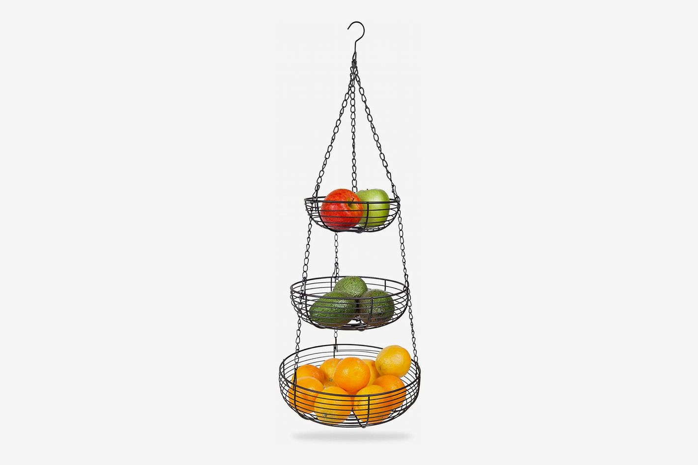 Home Intuition 3-Tier Hanging Basket Heavy Duty Wire
