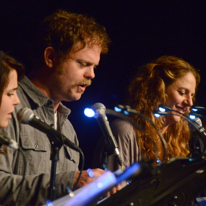 LOS ANGELES, CA - JULY 23: Mae Whitman, Rainn Wilson and Annie Mumolo at the Film Independent at LACMA presents live read of