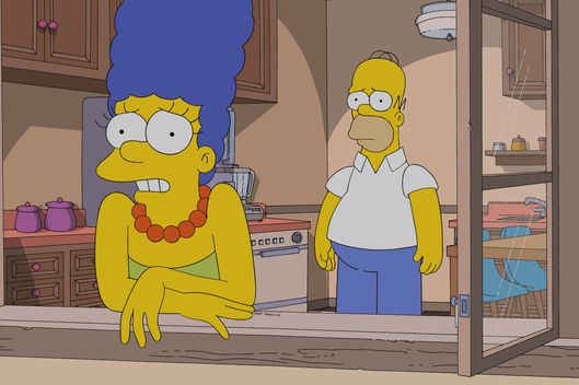 "THE SIMPSONS: Marge tells Homer who turned him in to the FBI in the all-new ""Steal This Episode"" episode of THE SIMPSONS airing Sunday, Jan. 5 (8:00-8:30 PM ET/PT) on FOX.  THE SIMPSONS ? and ? 2014 TCFFC ALL RIGHTS RESERVED."