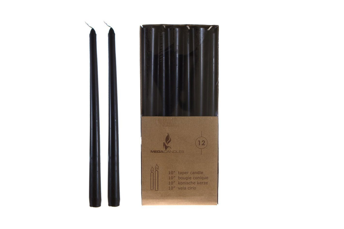 Mega Black Taper Candles