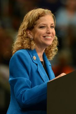 DNC Chair Debbie Wasserman Schultz speaks during a Grassroots Event with President Barack Obama at Bank United Center on October 11, 2012 in Miami, Florida.