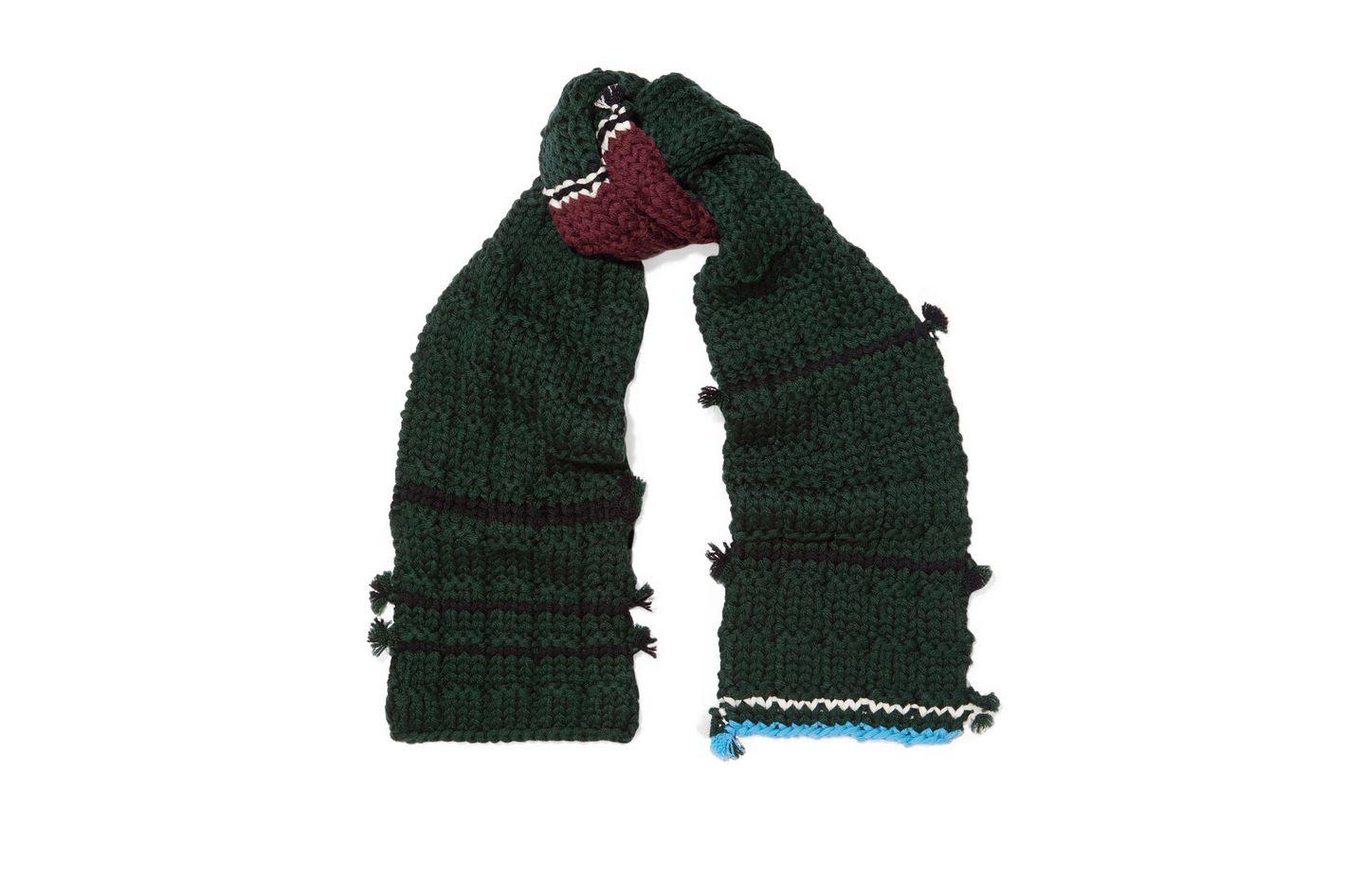 PRADA Tasseled wool scarf