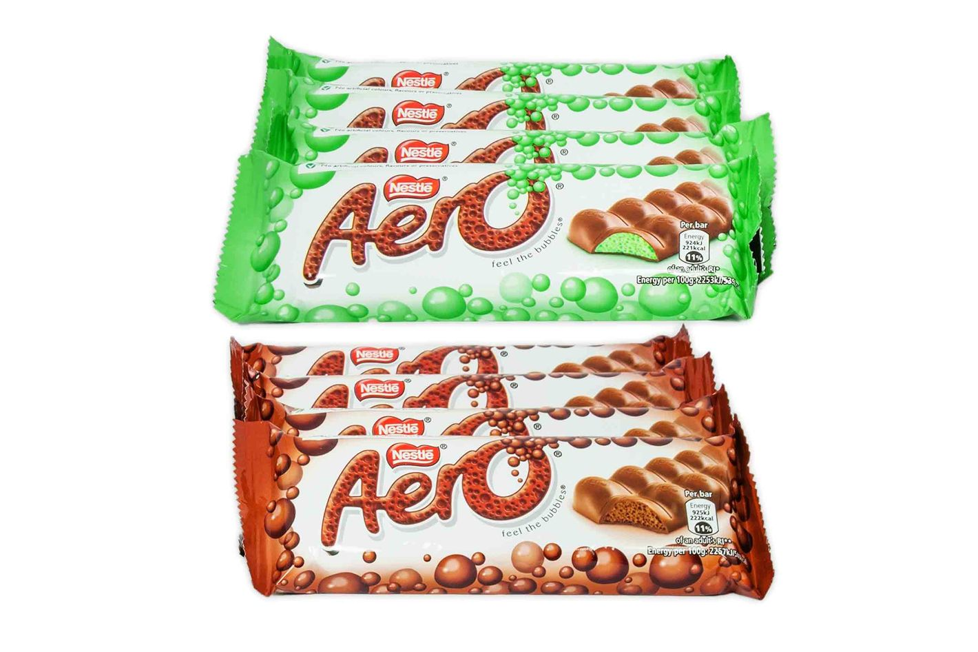 Nestle Aero Milk Chocolate and Peppermint Bar Sample Pack