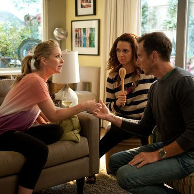 "UP ALL NIGHT --  ""Friendships and Partnerships"" Episode 201 -- Pictured: (l-r) Christina Applegate as Reagan Brinkley, Maya Rudolph as Ava Alexander, Will Arnett as Chris"