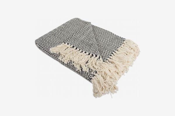 DII Rustic Farmhouse Cotton Blanket