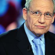 "US journalist Bob Woodward takes part in the TV show ""Le Grand Journal"" on Canal+ channel, on April 7, 2011 in Paris."