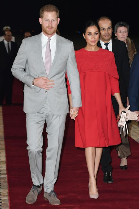 8e5ce973be9 Meghan Markle Looks Chic in Red Valentino in Morocco
