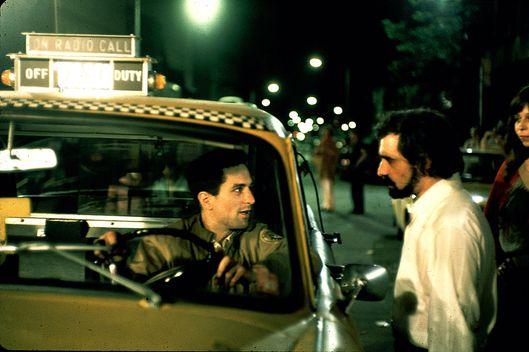 Scorsese and de niro on the set of taxi driver photo steve schapiro