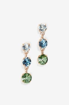 Roxanne Assoulin Indian Sapphire Just Us Three Earrings