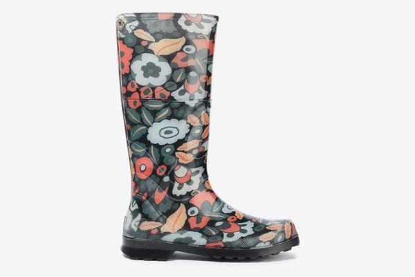 M Missoni Floral-Print Rubber Rain Boots