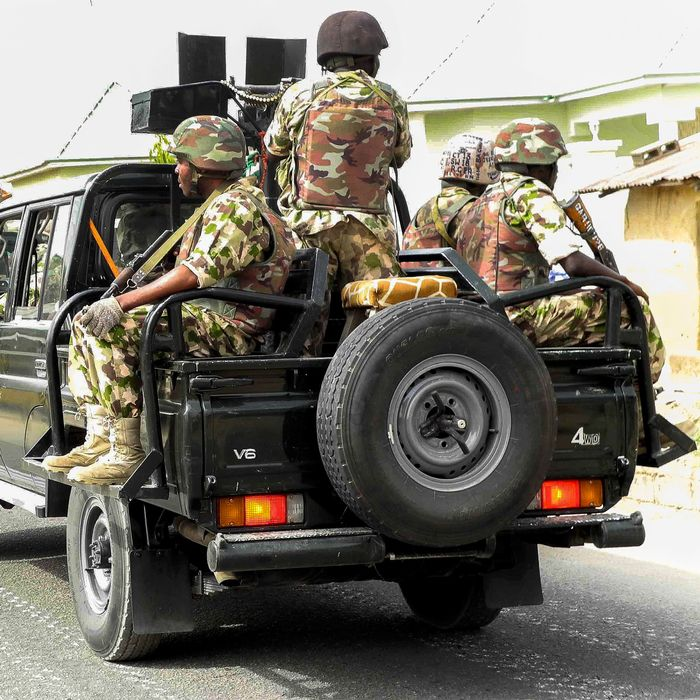 The Nigerian military on patrol earlier this year.