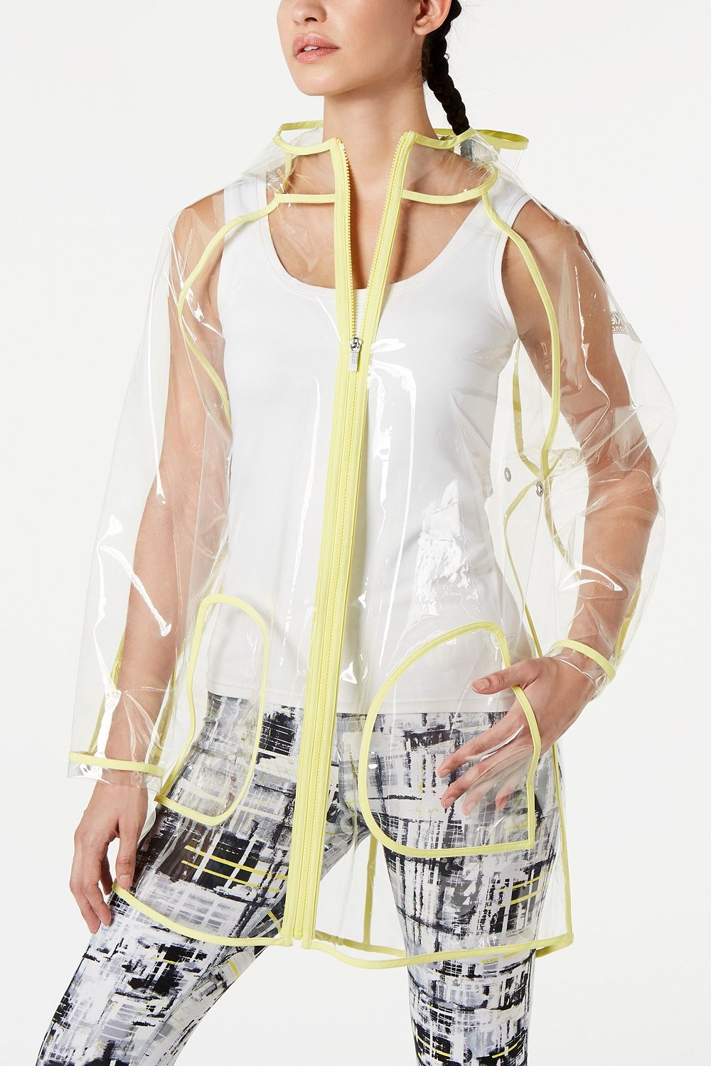 Calvin Klein Performance Lemon Chrome Rain Jacket