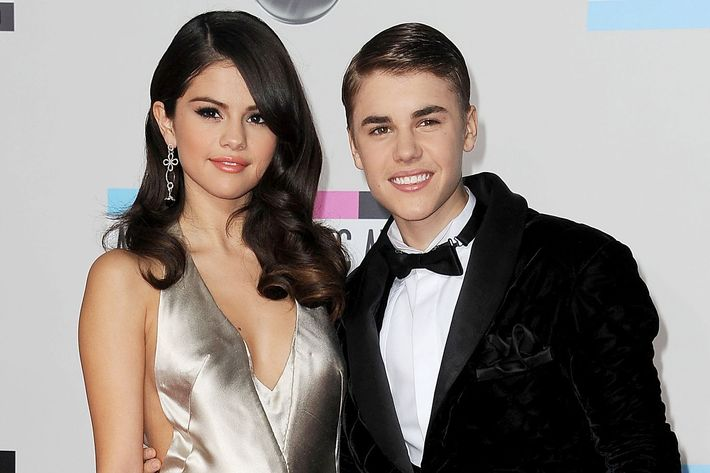 Selena Gomez and Justin Bieber.