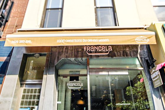 56.  <b>Francela</b>  If you're a fan of Turkish cuisine, you've likely eaten Orhan Yegen's food, either at Sip Sak, or Efendi, or Beyoglu, or any of the dozen or so other places he's opened in and around New York. His newest project is less sit-down restaurant (though there are six counter stools) than Turkish gourmet shop—on the same block as Eli's Manhattan, no less. But there's room on the Upper East Side and in this town for rival grocers, especially when Yegen's cases are full of his signature oil-slicked vegetable mezze, tangy hot yogurt soup, baked lamb over mashed-eggplant purée, and his famous butternut-squash non-dessert dessert.  <i>1429 Third Ave., nr. 81st St.; 212-335-0022</i>
