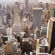 Aerial view of Manhattan New York