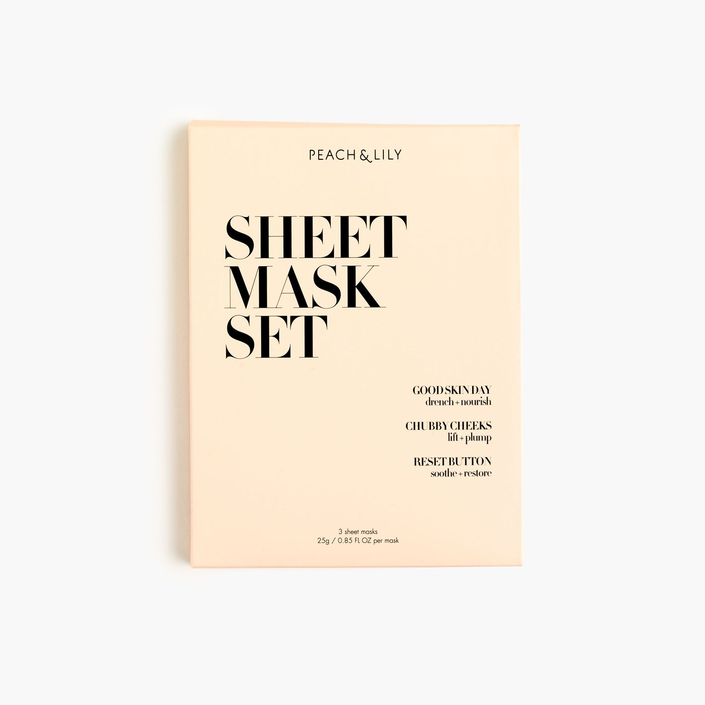 Peach & Lily 3 Sheet Masks Set