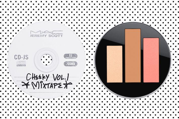 Acoustica Jeremy Scott x M.A.C Cosmetics cheek palette.