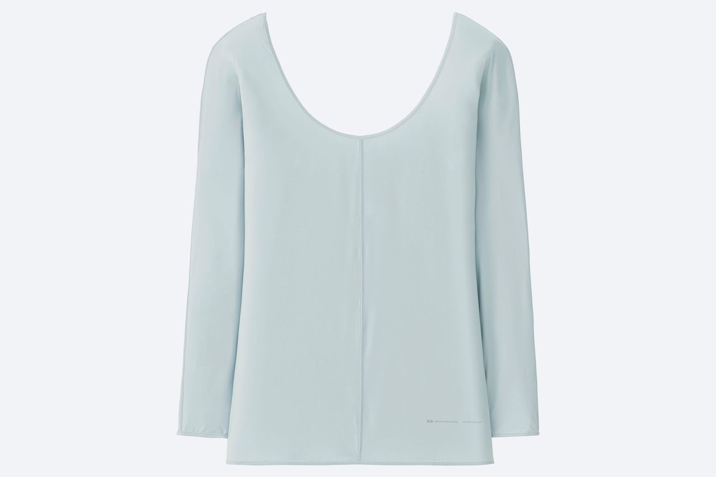 5154be9839807c Uniqlo and Alexader Wang Women Airism Round Neck Long-Sleeve Shirt