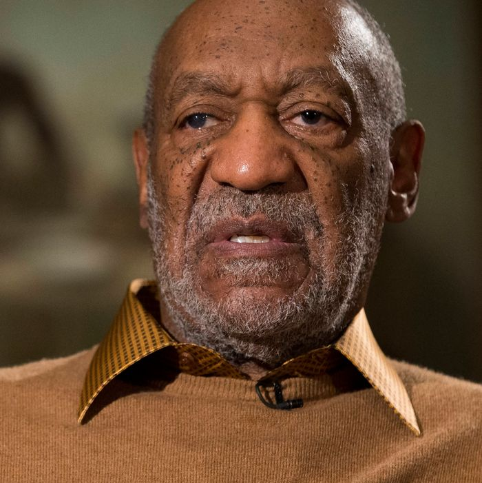 Entertainer Bill Cosby gestures during an interview about the upcoming exhibit, Conversations: African and African-American Artworks in Dialogue, at the Smithsonian's National Museum of African Art, on Thursday, Nov. 6, 2014, in Washington. After amassing a private collection of African-American Art over four decades, Bill Cosby and his wife Camille plan to showcase their holdings for the first time in an exhibition planned at the Smithsonian Institution. The collection, which will be loaned to the museum, includes works by such leading African-American artists as Beauford Delaney, Faith Ringgold, Jacob Lawrence, Augusta Savage and Henry Ossawa Tanner. (AP Photo/Evan Vucci)