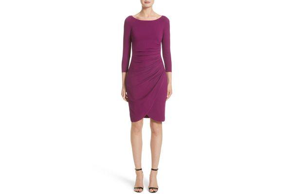 Armani Collezioni Milano Jersey Petal Hem Dress