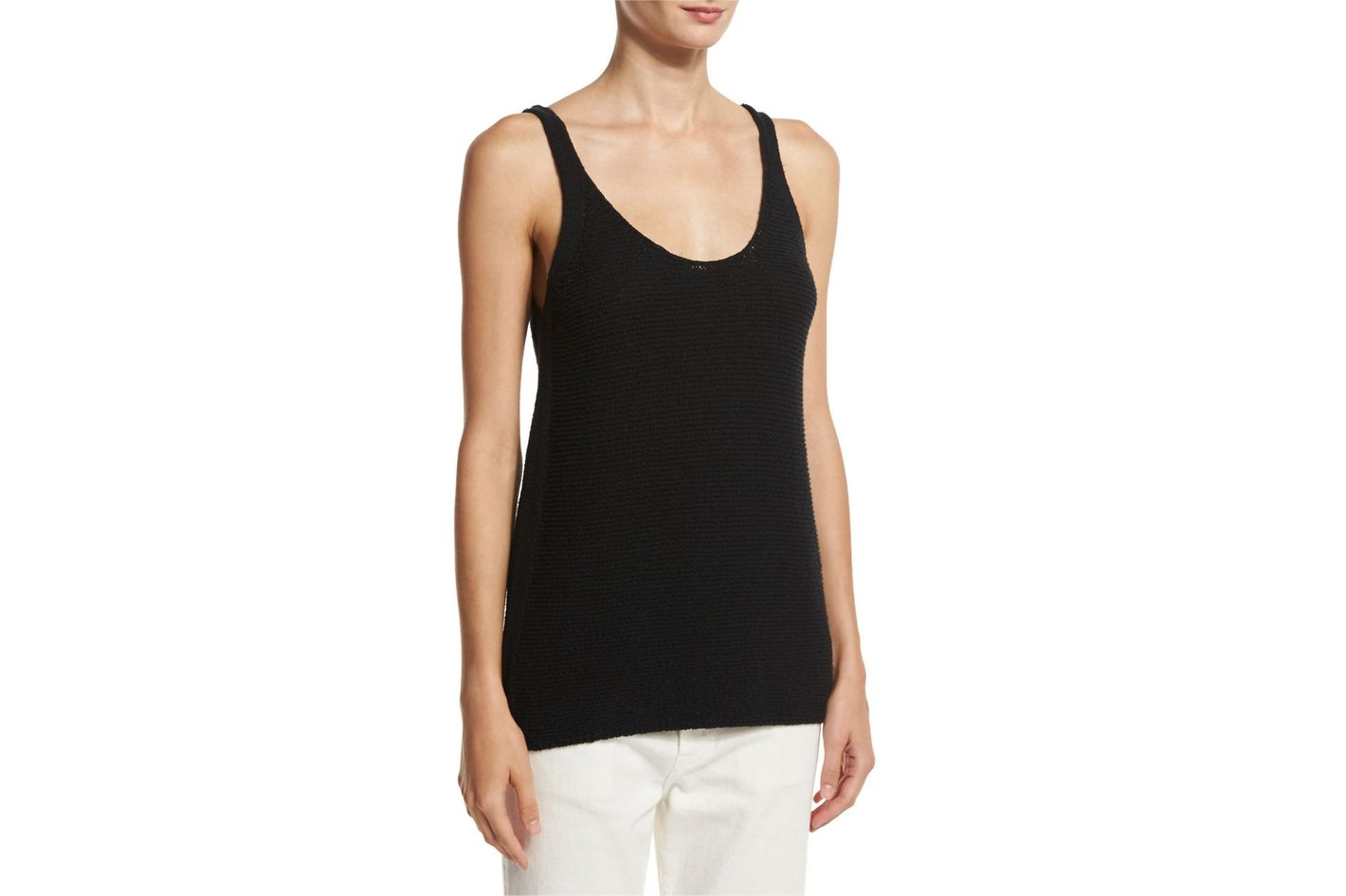 Vince Textured Scoop-Neck Tank