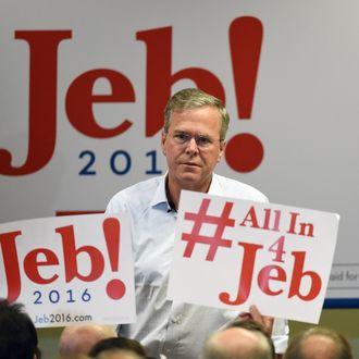 GOP Presidential Candidate Jeb Bush Campaigns In Las Vegas