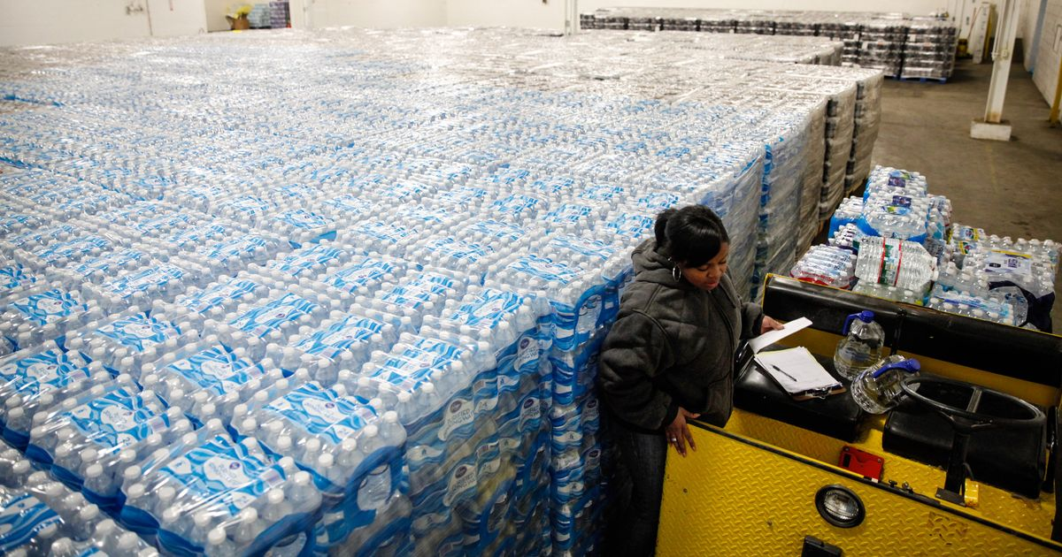 Next Challenge For Flint Enormous Piles Of Empty Water