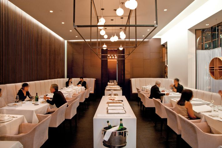 """Adam Platt finds the dining room """"dreary"""" at Jung Sik."""