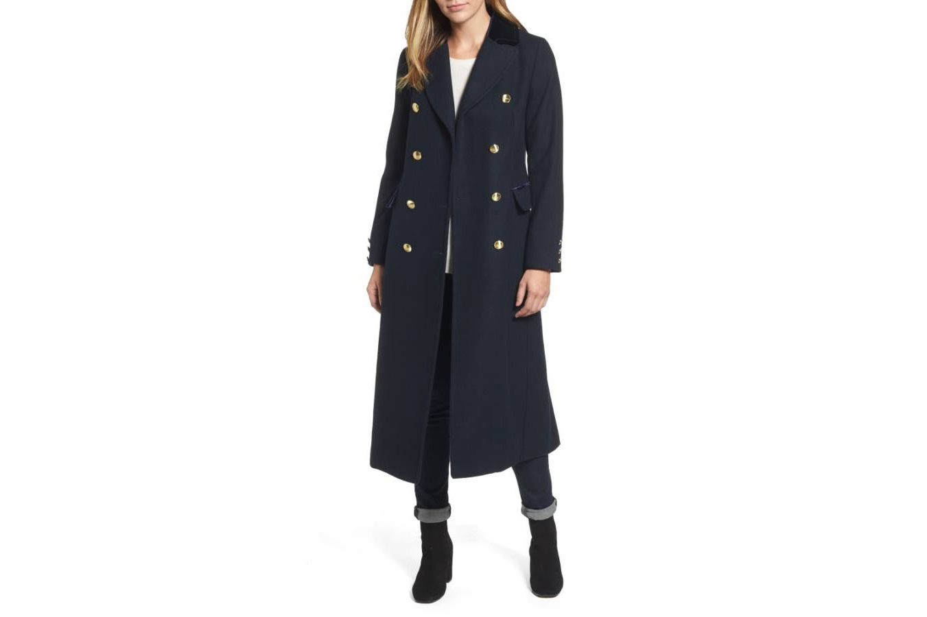 Laundry by Shelli Segal Wool Blend Military Coat